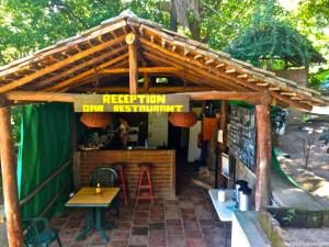 restaurant at paradiso in laguna de apoyo