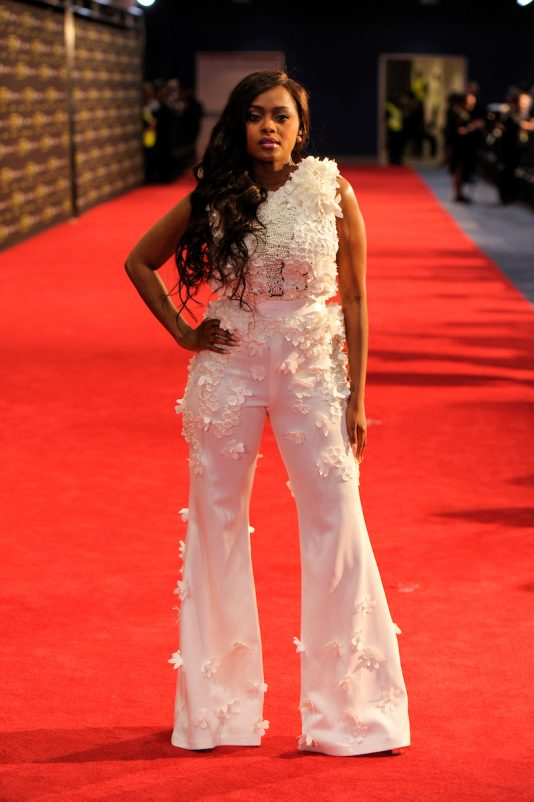 The artist Lerato Kganyago at the red carpet during the MAMA 2016 in Johannesburg, South Africa on October 22nd, 2016