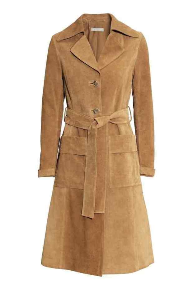 H&M, cappotto scamosciato 2015