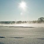 Да..в наших краях Москва река не замерзает