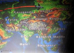 Навигация в самолете Москва-Хабаровск