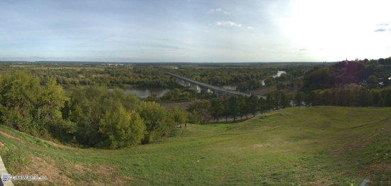 Панорама со смотровой площадки...вид на мост через клязьму (мы кстати потом по этому мосту поехали дальше)