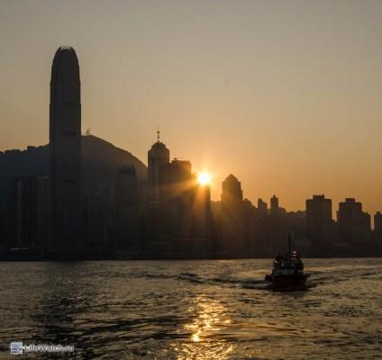 Закат над Гонконгом