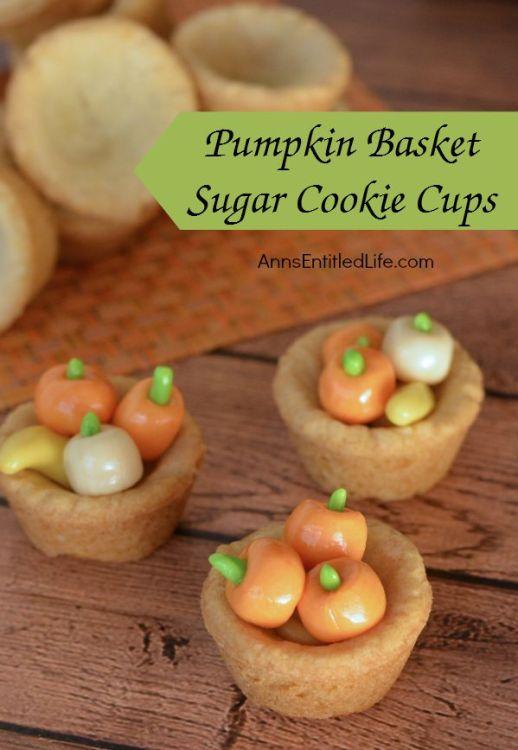 Pumpkin Basket Sugar Cookie Cups - Feature - HMLP 57