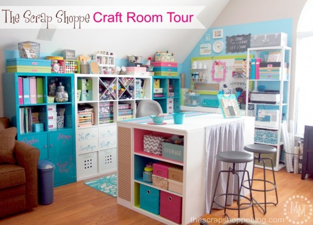 Craft Room Reveal - The Scrap Shoppe- HMLP 73 - Feature