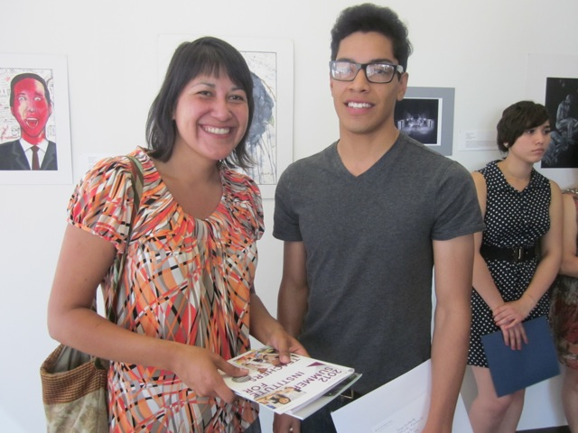 Art Center's Cecelia Ybarra stands with EFTA student.