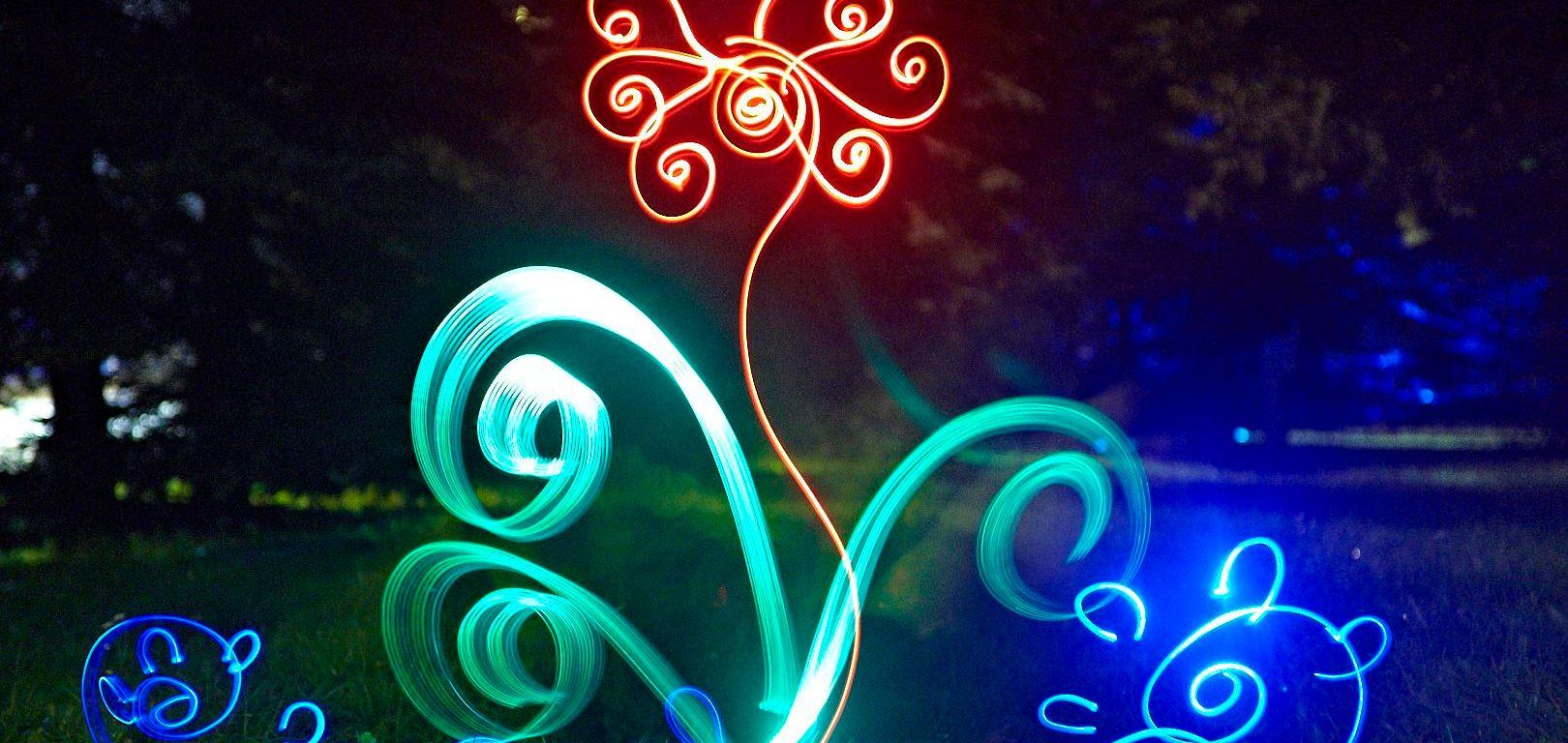 Lightpainting animation dream