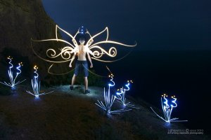 Lightpaint work Reincarnate