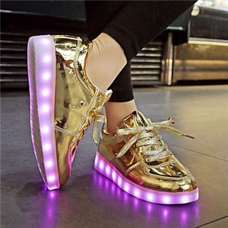 Gold LED Light Up Shoes