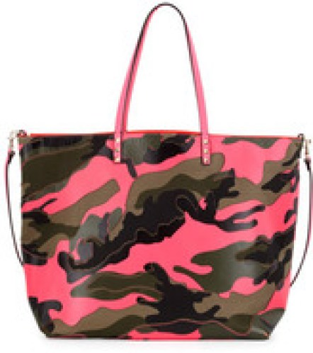 Valentino Neon Camouflage Reversible Tote Bag