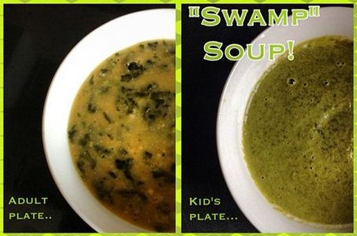 """Easy Chickpea and Spinach Soup! A.K.A """"Swamp Soup"""""""