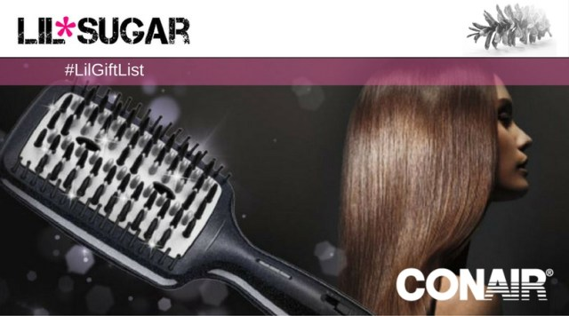 Conair Infiniti Pro Straightening Brush To The Rescue! #LilGiftList