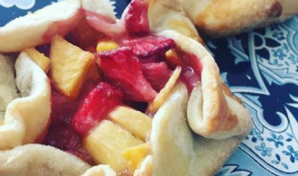 Strawberry Peach Mini Galette Recipe