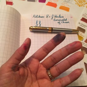 Jinhao 250, Classic Clairefontaine notebook French ruled, J.Herbin Emerald of Chivor