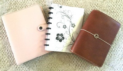 Filofax, planners, ARC, Martha Steward, Circa, notebooks, Midori, Foxydori, Chic Sparrow, Jendori, travelers notebook