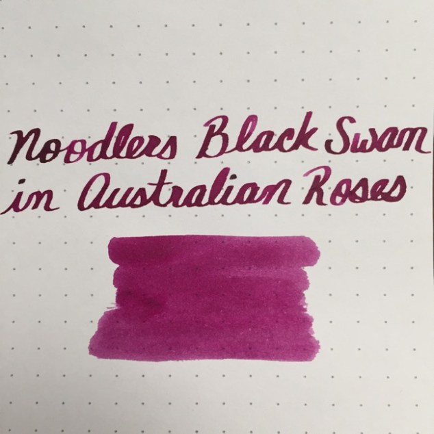 fountain pen, fountain pen inks, noodlers, noodlers black swan in australian roses, rhodia, dot grid, holiday, gift ideas
