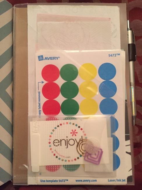 travelers notebook, planner, diy folder insert, Post-its, ARC folder