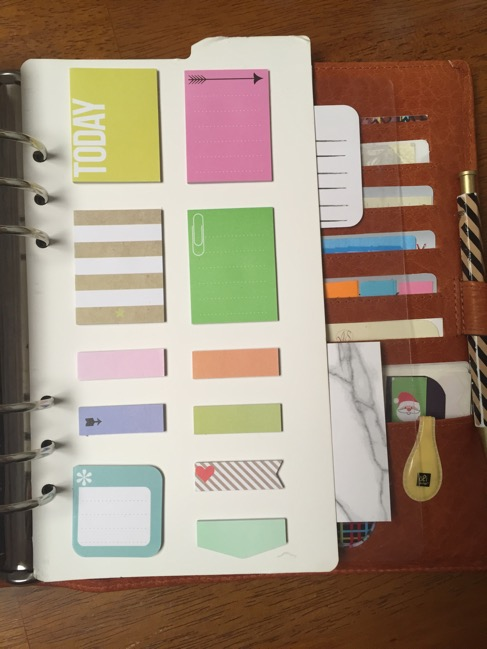 planner, binders, van der spek, vds, planner setup, MAMBI, Me and My Big Ideas, Happy Planner, Happy Planner post-its dashboard, post-its