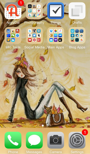 iPhone, iPhone apps, planning tools, planner, AppyCal, Things, Drafts