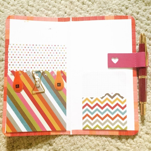Planners, travelers notebook, bullet journal, one book July, DIY planner folder