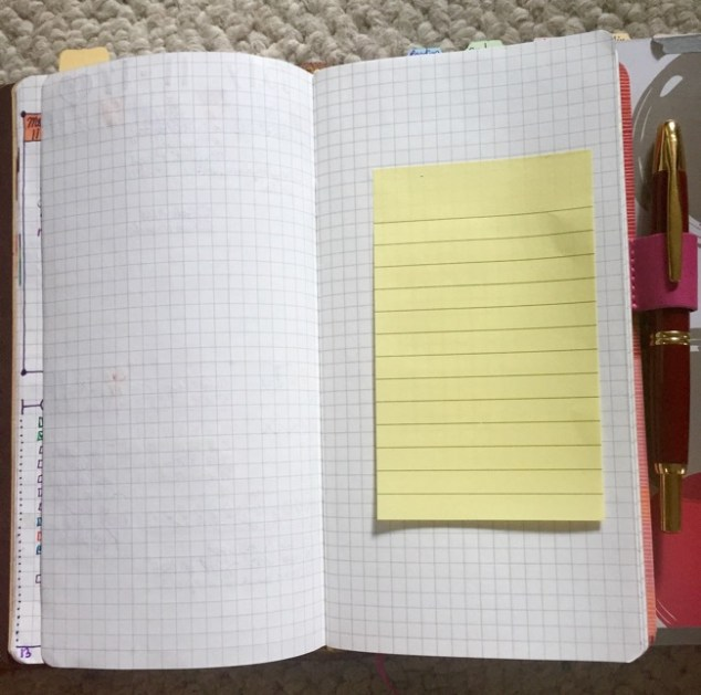 Post-it note to help my 'page turning' problem, lol!