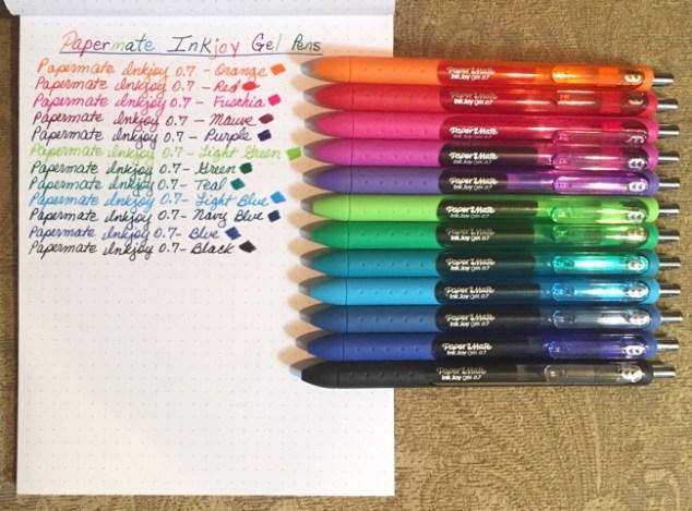 pens, favorite pens, Paper Mate, Inkjoy, gel pens
