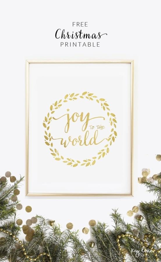 FREE Joy to the World Printable - download at { lilluna.com }