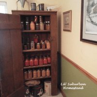 Primitive Canning Pantry Cupboard - Happy Early Christmas To Us!
