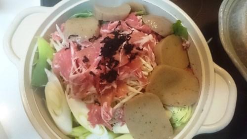 リリーのライダーズカフェ 野菜と豚肉のキムチ鍋
