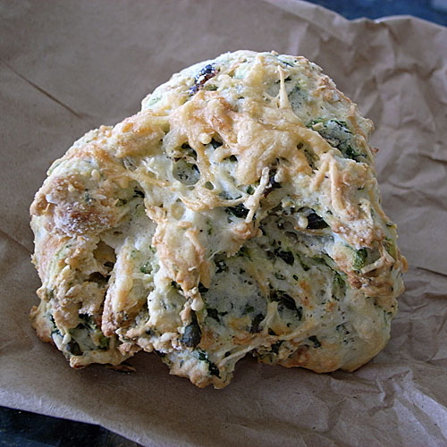 Spinach parmesean scone from The Biscuit