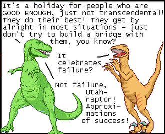 Dinosaur comics approximates pi day