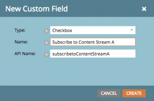 New Checkbox Field