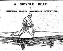 A Bicycle Boat – Limerick Man's Ingenious Invention
