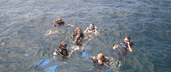 Alexy's group of scuba divers