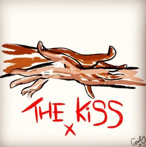 Goaty's illustration, inspired by The Kiss