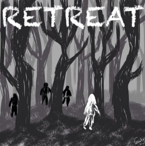 Goaty's illustration inspired by Ted Evans' film Retreat