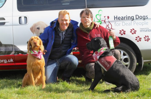 Richard and Cameron with BBC presenter Adam Henson and his dog Boo (click to download)