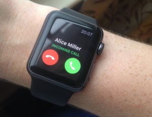 Answering a call from your Apple Watch is easy