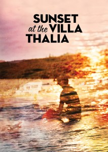 Sunset at Villa Thalia text, designed by the NT Graphic Design Studio
