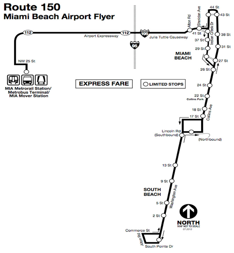 Route  Miami Beach Airport Flyer