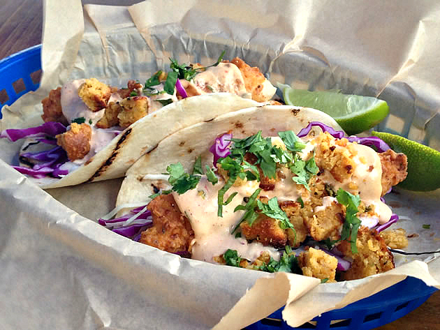 Fried Chicken Taco – jalapeño cornbread, cabbage, ancho ranch