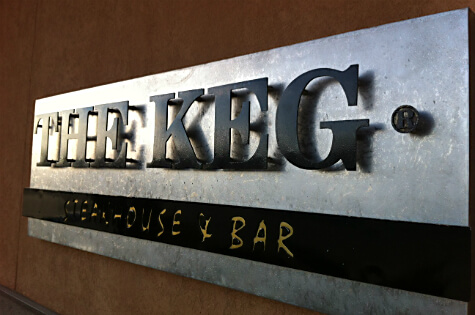 The Keg Steakhouse & Bar at 9960 170 Street.