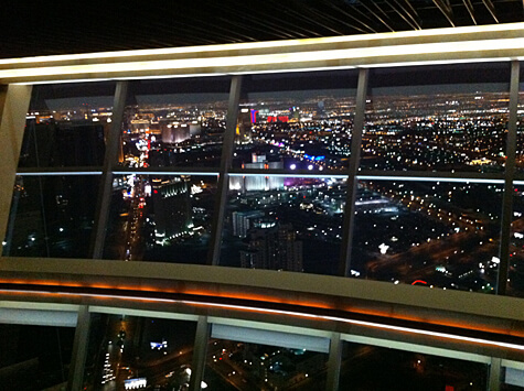 View from the Top of the World Restaurant at the Stratosphere in Las Vegas!