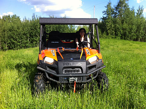 Enjoying the countryside in a Polaris Ranger!