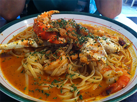 Pasta Pescatore from Cafe Amore.