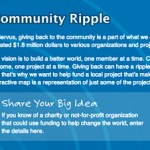 Servus Credit Union - Community Ripple online Facebook contest.
