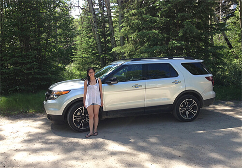 Exploring Alberta with the Ford Explorer.