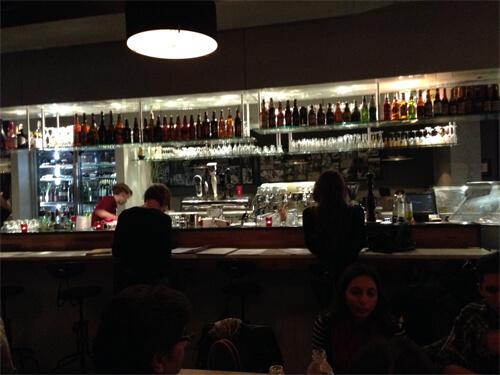 Inside Rosso Pizzeria.