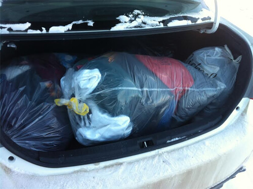 So far, 38 bags full of toques, mitts, gloves, jackets and more have been donated to #BundleupYEG to help the city's less fortunate.