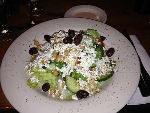 Nicole's Greek salad at The Balkan.